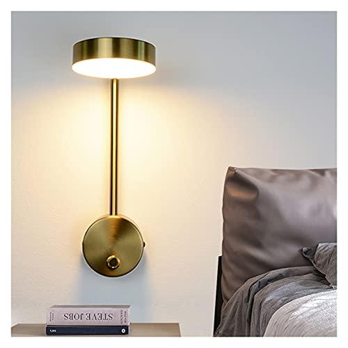 Lámpara de Pared Luces de pared modernas 9w con interruptor Lámparas de pared Lámparas de pared de oro Lámparas de pared Sala de estar dentro de la noche de iluminación para la luz de la pared de la p