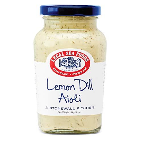 Lemon Dill Aioli von Stonewall Kitchen und Legal Sea Foods (283 g) - fruchtig-frisches Aioli mit Dill - ideal zu Fisch, Krabben, Krebsen, Hummer und Meeresfrüchten