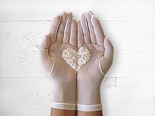Lace Gloves, Wedding Gloves, Bridal Gloves, Heart Gloves, Wedding Accessories, Boho Wedding Gloves, Bride Gloves, Boho Wedding, Bridal Mitten