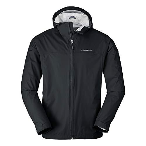 Eddie Bauer Men's Cloud Cap Rain Jacket, Black Regular M