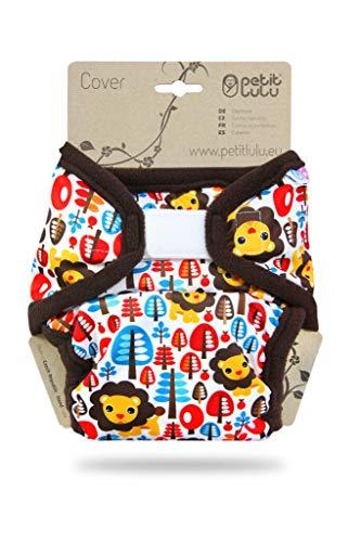 Cover Petit Lulu | Talla XL | Hook & Loop | Pañales lavables | | Pañal de tela | Fabricado en Europa (Jungle King)