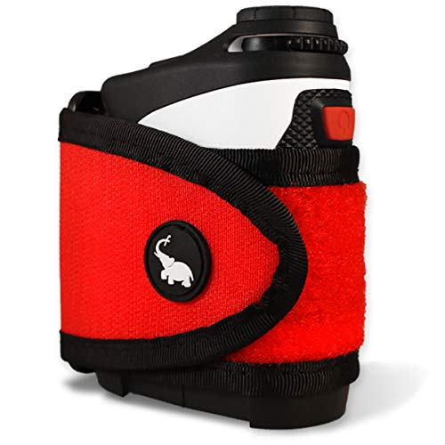 STICKIT Magnetic Rangefinder Strap | Classic Series, Red | Nylon Strap with Magnets for Strong Hold of Golf Laser Rangefinders to Carts