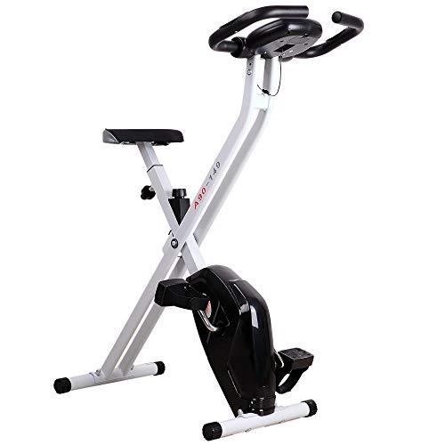 homcom Cyclette Magnetica Pieghevole con Schermo LCD, Intensità e Sellino Regolabile,...