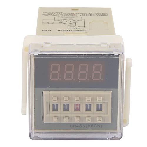 O111ROM DH48S-2Z Pantalla LCD Temporizador de tiempo Relé de retardo 8 pines 0.01S-9999H Se utiliza para vallas publicitarias al aire libre, talleres de fábrica, lámparas de(24VAC/DC)