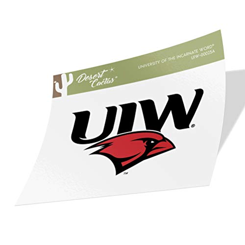University of The Incarnate Word UIW Cardinals NCAA Vinyl Decal Laptop Water Bottle Car Scrapbook (Sticker - 00025A)