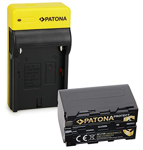 PATONA Slim Caricatore con Protect Batteria NP-F750, custodia V1 compatibile con Sony NP-F550 NP-F530 NP-F930 NP-F920
