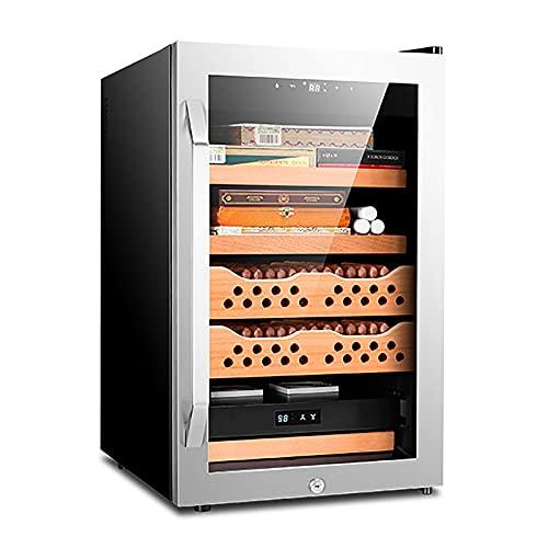 IRi Silver Cigar Humidor Cigar Humidification Box of Thermostatic Humidity Constant Electric 70L Moisturizer Cigar Cabinet