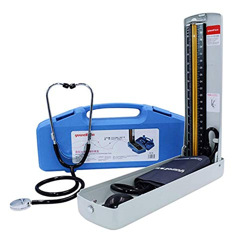 EMPERSTAR Conjunto De Esfigmomanómetro De Mercurio Profesional, Esfigmomanómetro De Brazo Superior, Monitor De Presión Arterial con Funda para Adultos Y Cartón