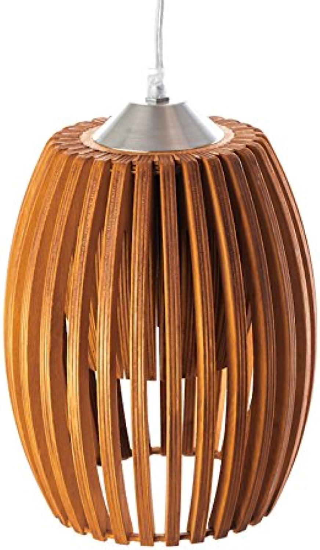 MK Design, Holz Pendellampe Pendelleuchte Hngelampe Avilo Rotbraun