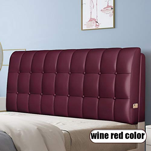 KDAB Headboard Cushion Stylish Leather Upholstered Full Headboard 19 Colors 120cm (Color : 12, Size : With headboard)