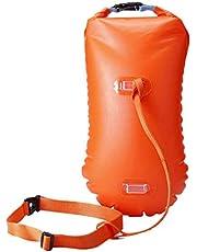 BESPORTBLE 1 x Open Water Zwemboei Ultralichte veiligheidszwemzak Zwemboei voor triatleten zwemmers Snorkelaars (Oranje)