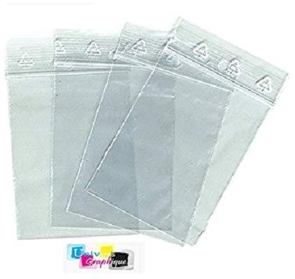 Sachets zip - pochette plastique zip pour pièce de collection - gemmologue et numismate. - Format 60 x 80 mm/Lot de 100