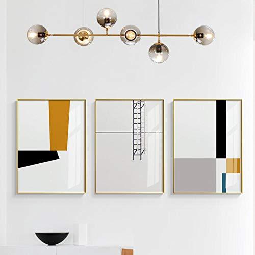 kldfig minimalistisch canvas schilderij wand canvas poster en afdrukken ramen en ladder zonneschijn wandafbeeldingen voor woonkamer decor vinden - 50x70cmx3 niet ingelijst