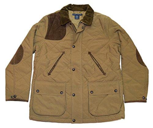 Ralph Lauren Polo Womens Quilted Zip Jacket Coat Brown Khaki Beige Tan XS