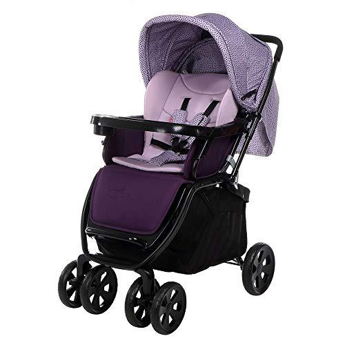 Baby carriage Leichter Faltbarer Kinderwagen, Fünfpunkt-Sicherheitsgurt, Stabile Eisenhalterung, Vollständig Geschlossener, Frei Einstellbarer Carport-Kinderwagen