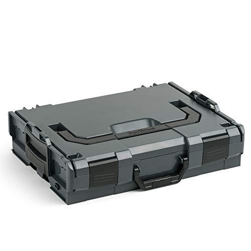 Bosch Sortimo L-Boxx 102 in Anthrazit Werkzeugkoffer Set | Innovatives Transportsystem | Bosch Werkzeugkoffer Größe 1 Leer | Kompatibel mit L-Boxx