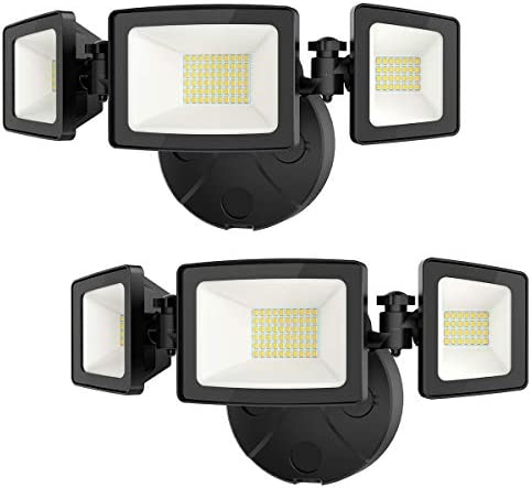 Onforu 2 Pack 50W LED Security Light 5000LM Outdoor Flood Light Fixture with 3 Adjustable Heads product image