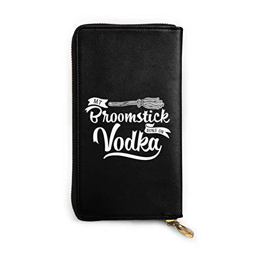 shenguang Mein Besenstiel läuft auf Wodka Womens Luxus-Wachs aus echtem Leder mit tragbarer Brieftasche