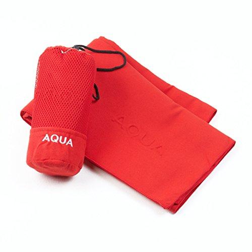 Sancarlos Aqua Toalla Microfibra, Rojo, 100x150 cm