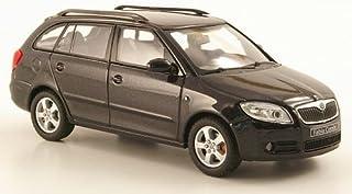 Skoda Fabia II Combi, met. schwarz, Modellauto, Fertigmodell, Abrex 1:43