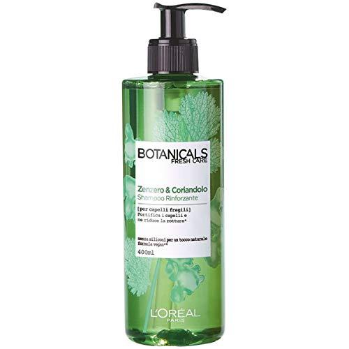 L'Oréal Paris Shampoo Botanicals, Shampoo per Capelli Fragili, Zenzero e Coriandolo, 400 ml