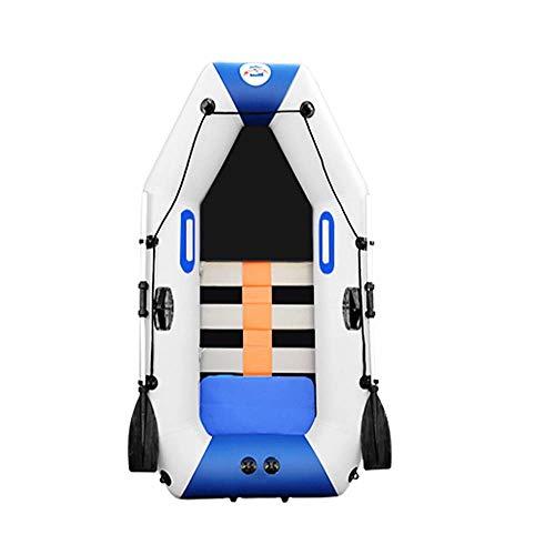 GUOE-YKGM Kayak Schlauchboot Faltkajak Outdoor Beiboot Komfortable Kajakfahren Freizeit Faltboot 1-2 Personen Schlauchboot Marine Sport Angeln Abenteuer Dicke PVC Kunststoff 175 * 95 cm Weiß