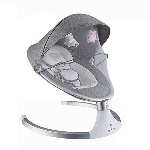 BYCDD elektrische wip baby voor peuters, multifunctionele draagbare babyschommel 5-Swinging Motions 3-timer babywip schommel (cadeau: mat) 60X65X66CM grijs