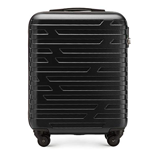 Maleta de equipaje premium para carretilla de WITTCHEN ABS 54 x 39 x 23 cm 2.8 kg 38 L Negro | Equipaje de mano 56-3A-391-10
