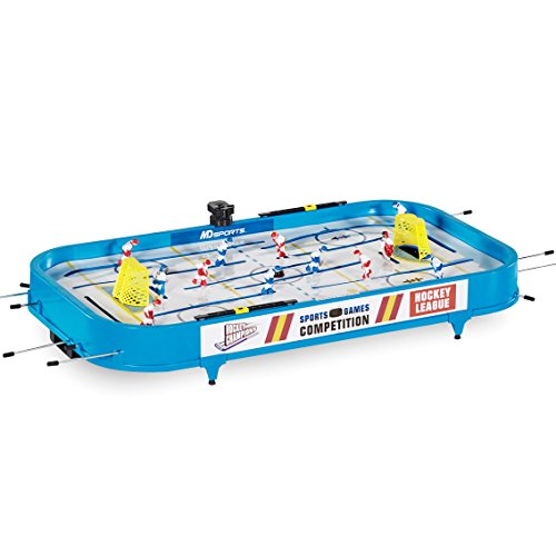 "MD Sports Rod Hockey Table Game, 36"", Lightweight Table Top - Stick Hockey with 2 Pucks - Fun, Portable Arcade Games and Accessories for Kids and Adults"