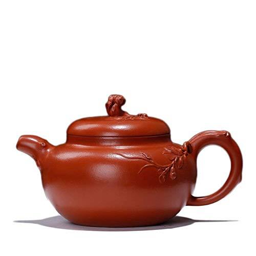 ZYL-YL Electronic Multimeter Yixing Teapot Zhuni Pine Grape Flower Pot Hand-goods Portable Tea Maker Sand Pot (Color : Red)