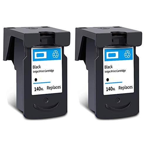 Cartucho de tinta PG-140XL CL-141XL, repuesto de alto rendimiento para impresora Canon Pixma MG 2110 2210 3110 3610 4110 MX 371 391 431 TS5110 negro y tricolor 2 negro