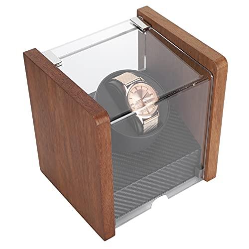 Watch Collector, Watch Winder 2 modos de fuente de alimentación para huellas dactilares(1+0 walnut table shaker, Transl)