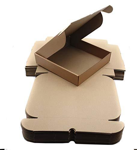 Pack cajas | cartón medianas, para envíos ecommerce automontables kraft, paqueteria, almacenaje , packaging, regalos, envio postal, Ideal ecomerce. (28 x 28 x 6 cm, Pack 25 cajas)
