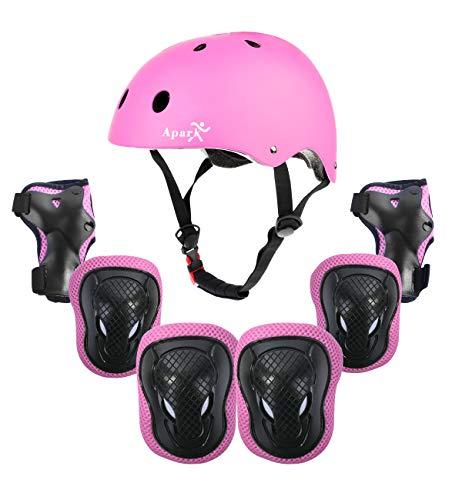 Apark Casco de Bicicleta para Niños y Niñas, Protecciones Infantiles Skate Bicicleta Monopatín Casco,