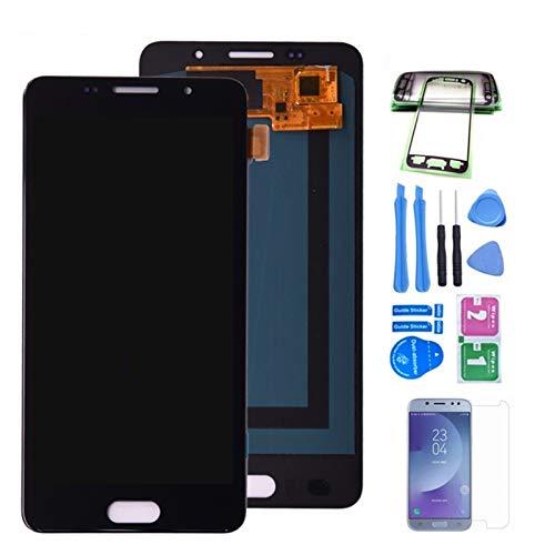 Pantallas LCD para teléfonos móviles Pantalla LCD Montaje digitalizador de Pantalla táctil/Ajuste para Samsung A510 A510F LCD/Ajuste para Samsung Galaxy A5 2016 DUOS (Color : Black)
