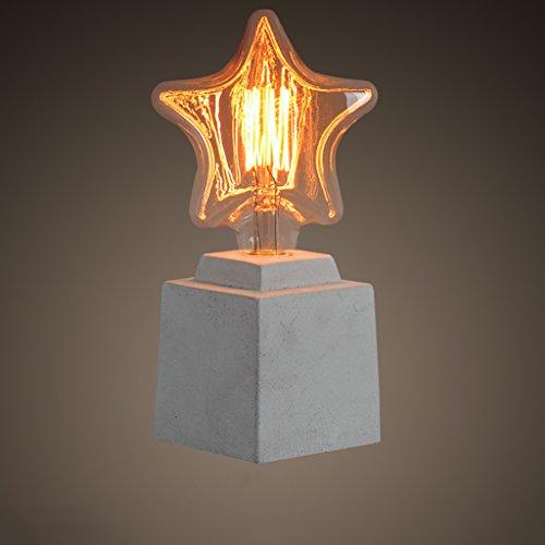 Lampe de table en ciment créative lampe de bureau lampe de table décorative salle de chevet en Europe table de chevet lampe en ciment lampe en béton