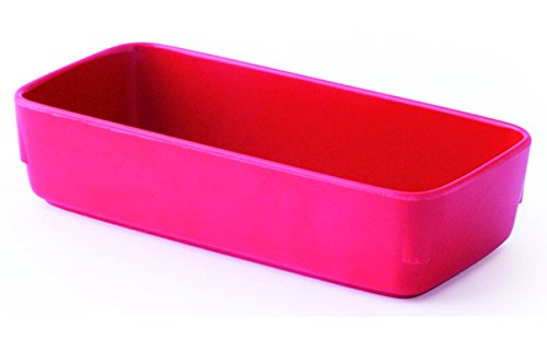 Visiodirect Lot de 10 RAVIERS RECTANGULAIRES Melamine Rouge L155 x lg70 x H35 mm. 38cl