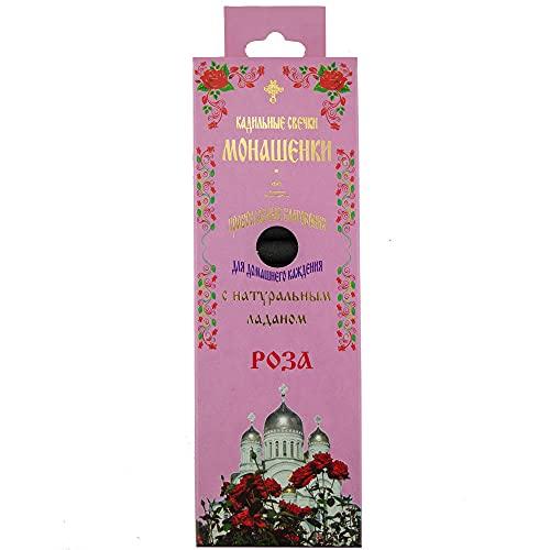 14 velas de incienso naturales con incienso + portavelas, diseño de rosa, varios aromas