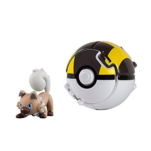 Pokémon Battle Action Figure and Pokemon Ball Game for Children's Toy Set (Rockruff)