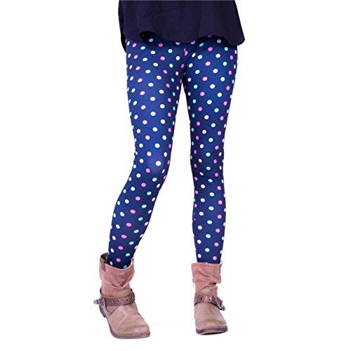 cosey - Bedruckte Bunte Leggins (Einheitsgröße) Verschiedene Leggings Designs, Colorful Dots, Einheitsgröße