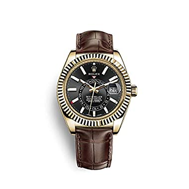 Rolex Sky Dweller Yellow Gold/Tobacco Leather...