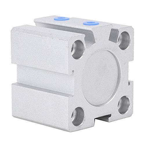 Oumefar Dünnluftzylinder Selbstschmierende Lager Pneumatikzylinder SDA20x10 Zweiwege-Dichtung für 10 mm Hub für Roboterarm
