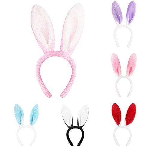 Candygirl 6 Piezas Lindo Orejas de Conejo Diadema para Mujer/Chica...