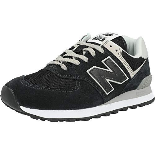 New Balance 574 - Sneakers da uomo classiche, colore: nero, Nero (Nero ), 43 EU