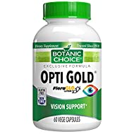 Botanic Choice Opti Gold Capsules, 60 Ct – Daily Eye Vitamins Supplement to Support Vision & Eye Health; Eye Health Supplements for Adults