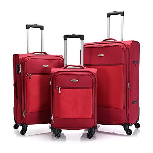 BONTOUR Trip - Maleta de tela con 2 ruedas y candado TSA.