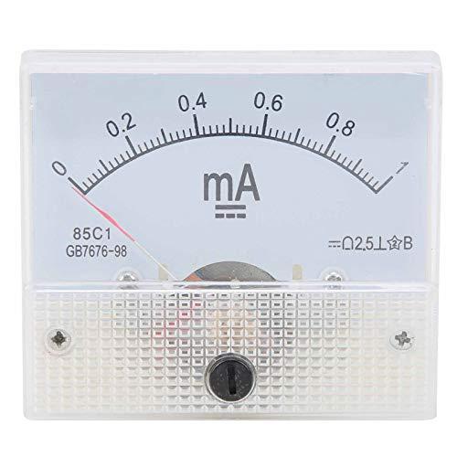 0~1MA DC Medidor de corriente Aseguramiento de la calidad Amperímetro de panel...