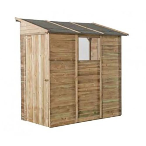 Casetta in legno addossata 201 x 105 x 217 cm Mod. Cortina