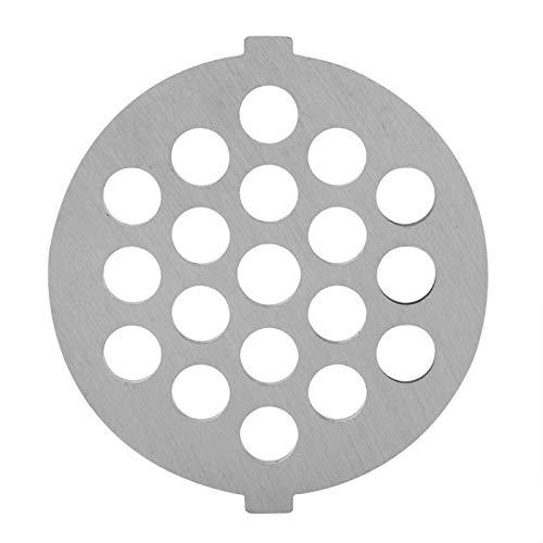 Pangdingk Fleischwolfplatten, leicht zu reinigen Starker und scharfer Fleischbrecher, Legierung 2,1 * 2,2 * 0,2 Zoll für Gemüse Brot Mahlen Fleischwurst(7mm small Round Hole)