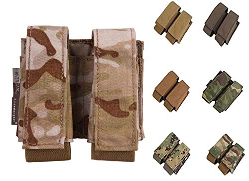 Paintball Equipment LBT Style 40mm Double Pouch Molle Hunting Military Airsoft Pouch (Multicam Tropic)